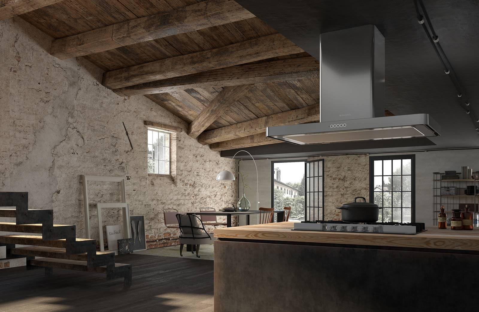 Cappa per la cucina design e funzionalit in primo piano for Cappa sospesa per isola