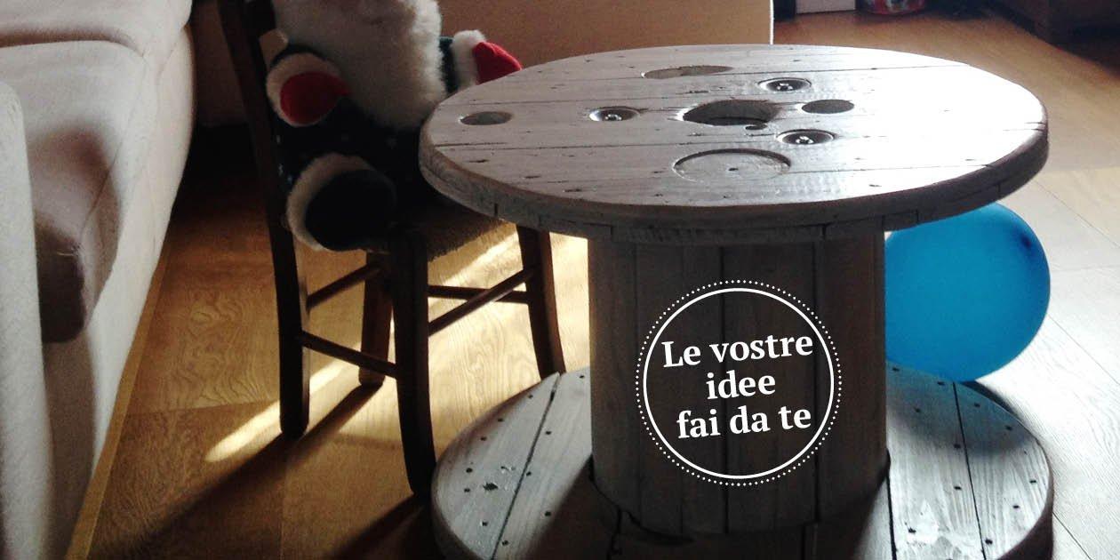 La bobina dell 39 elettricista diventa un tavolino cose di casa for Terrazzo fai da te