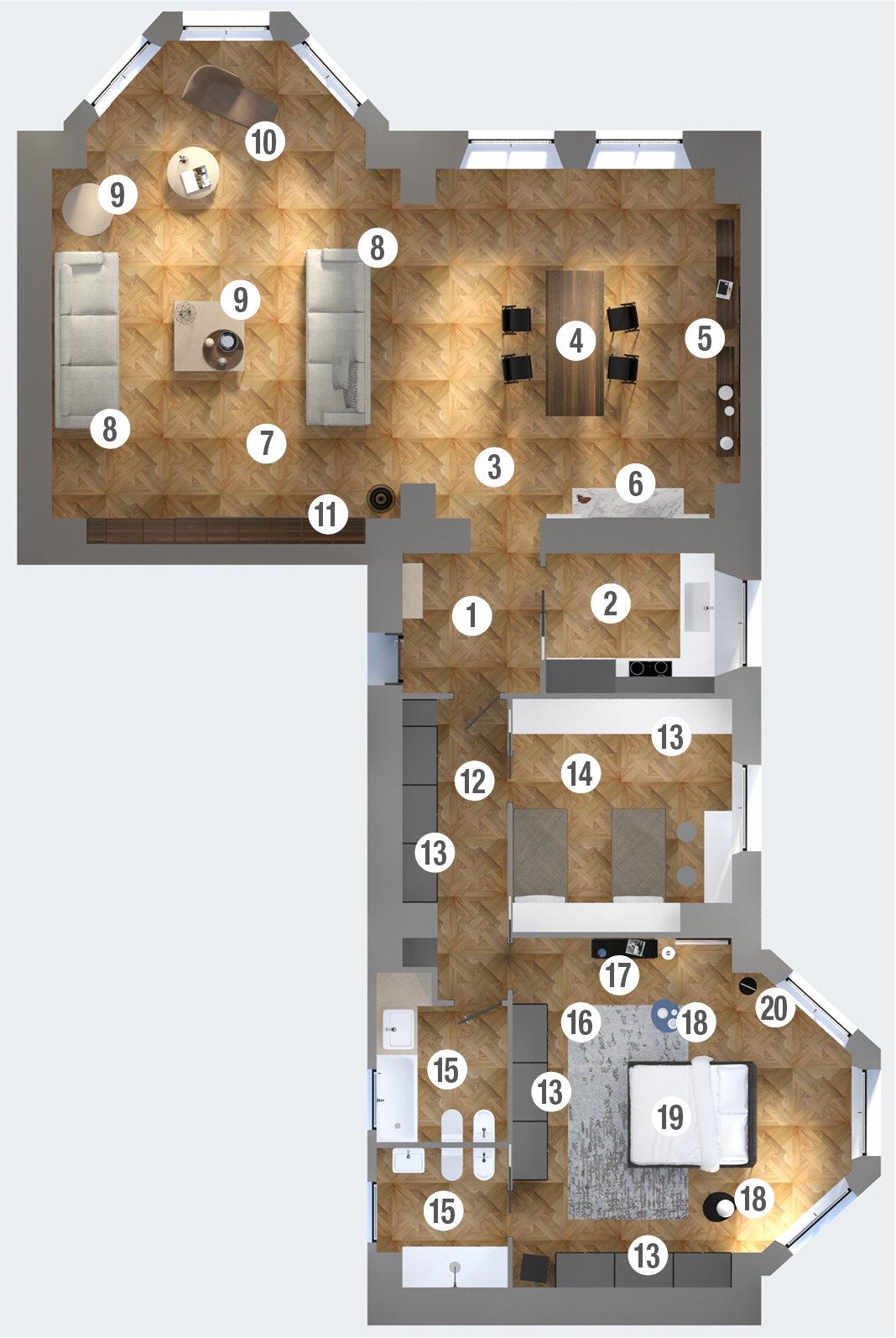 Casa d epoca arredi contemporanei progetto di interior - Planimetria della casa ...