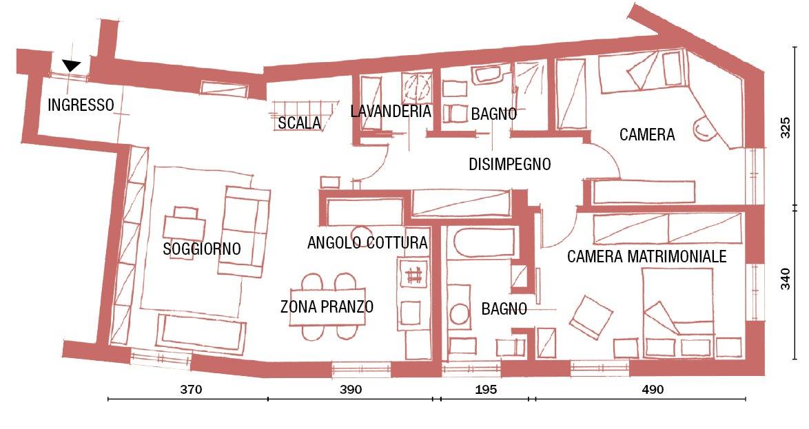 Una casa con soluzioni da copiare factory urbano con mini for Piani di camera di lavanderia