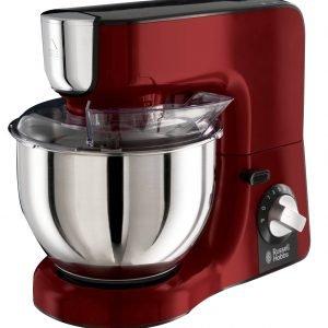 La Kitchen Machine Desire di Russell Hobbs 23480-566 ha movimento planetario, bicchiere frullatore in vetro da 1,5 litri, ciotola in acciaio inox da 5 litri con frusta piatta, gancio da impasto e frusta a filo e coperchio trasparente anti-schizzi con apertura per l'aggiunta degli ingredienti. Ha potenza di 1.000 watt. Prezzo 225 euro. www.russellhobbs.it