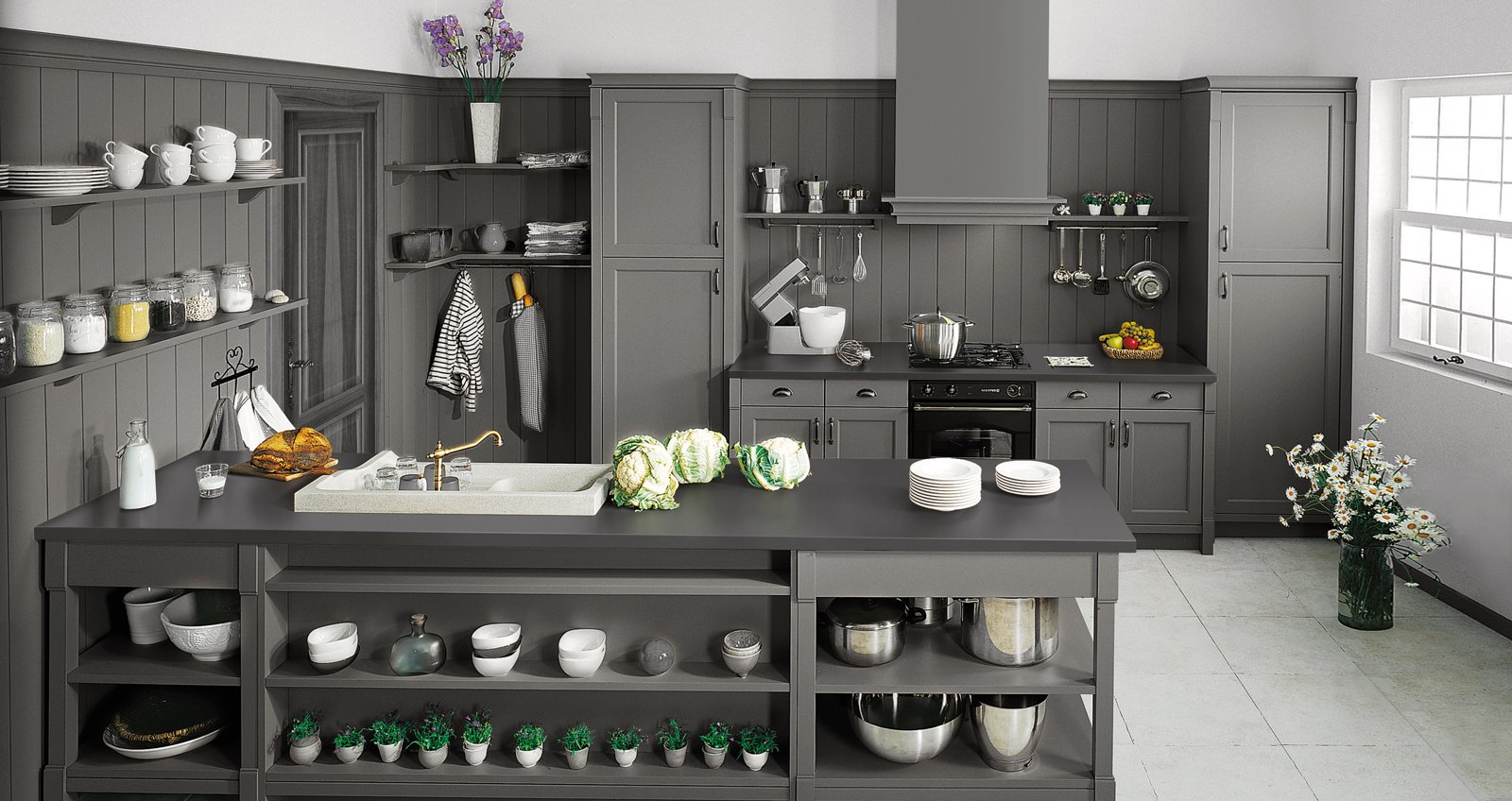 Cucina in stile country anche in versione attuale cose for Stile country moderno