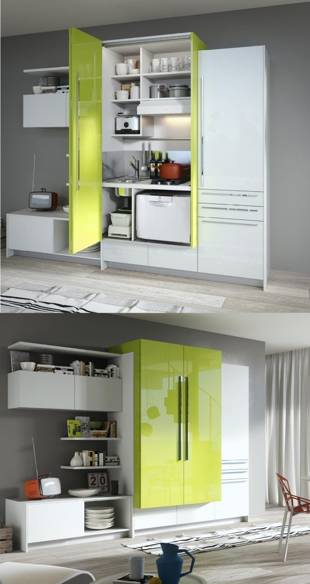 Mini cucina jolly salvaspazio dalle funzioni dichiarate o - Cucina in poco spazio ...