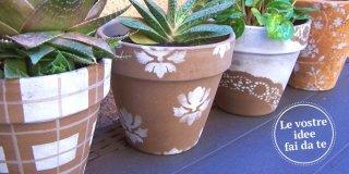 Decorare i vasi di terracotta per cambiare look al terrazzo