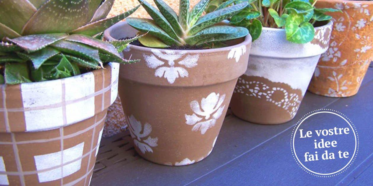 Decorare i vasi di terracotta per cambiare look al for Vasi fai da te