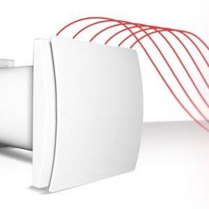 Attraverso un accumulatore ceramico posto all'interno, l'unità ventilante Solitair di Ave è in grado di limitare la dispersione termica garantendo, oltre che un'adeguata aerazione degli spazi interni, anche un recupero di calore con un'efficienza reale fino a oltre il 90%. www.ave.it
