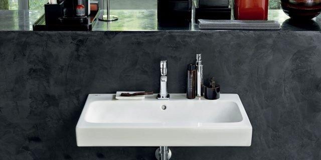 Lavabo sospeso: senza mobile, per piccoli spazi