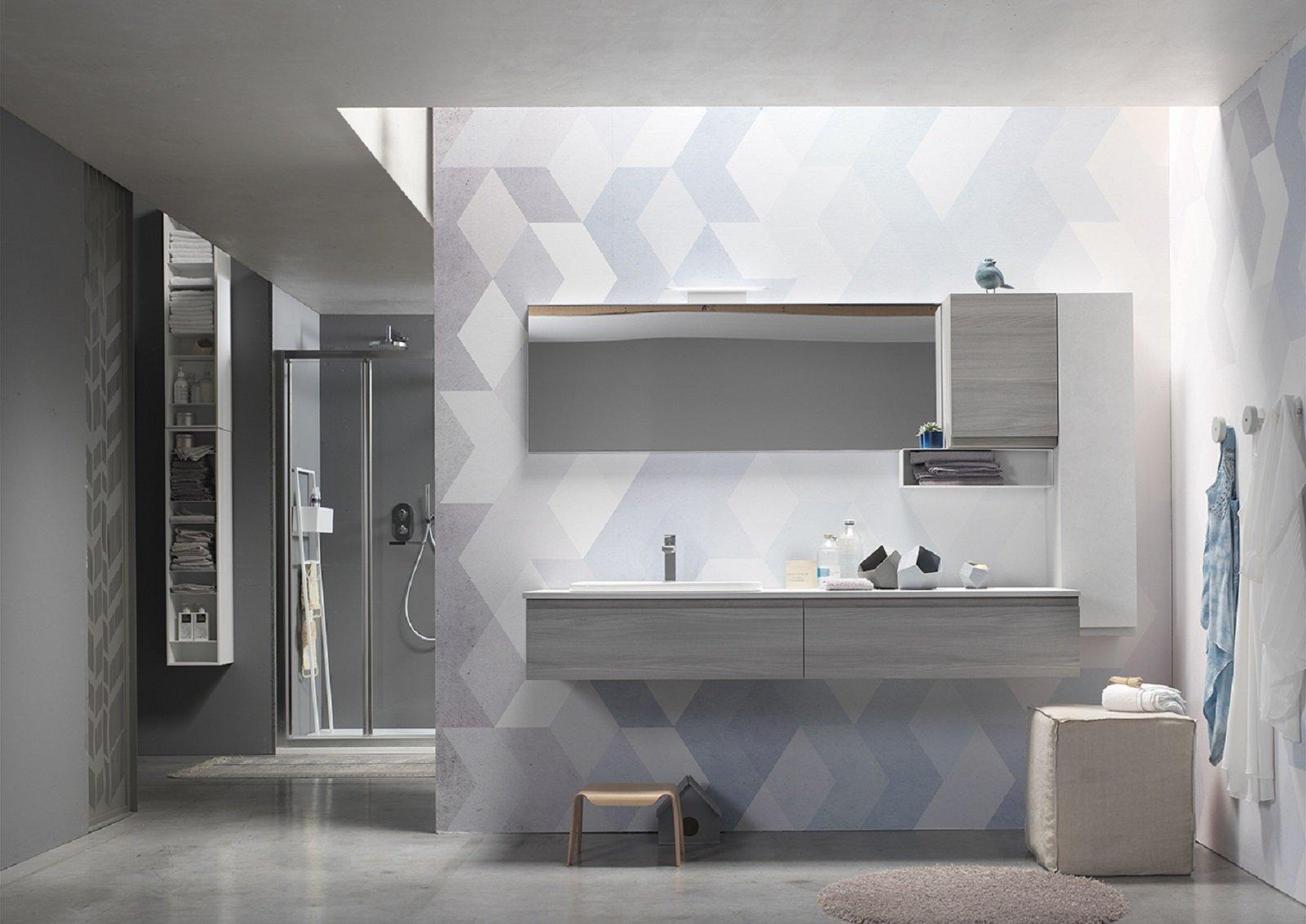 Bello mobile lavabo bagno sospeso curvo altea arredo design online