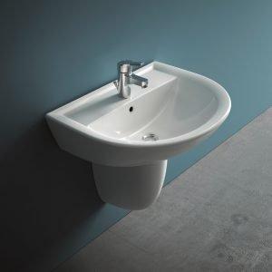 Con o senza semicolonna il lavabo sospeso regala pi spazio - Mobile bagno doppio lavabo leroy merlin ...