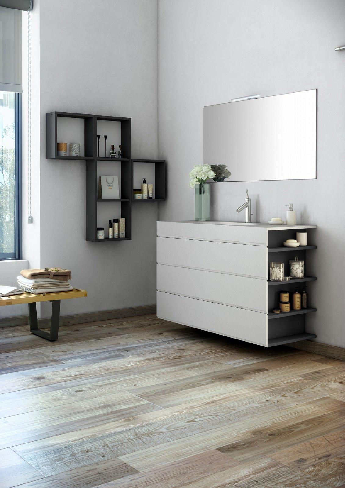 i mobili lavabo sospesi sono i protagonisti dell'arredo bagno. - Fiora Arredo Bagno