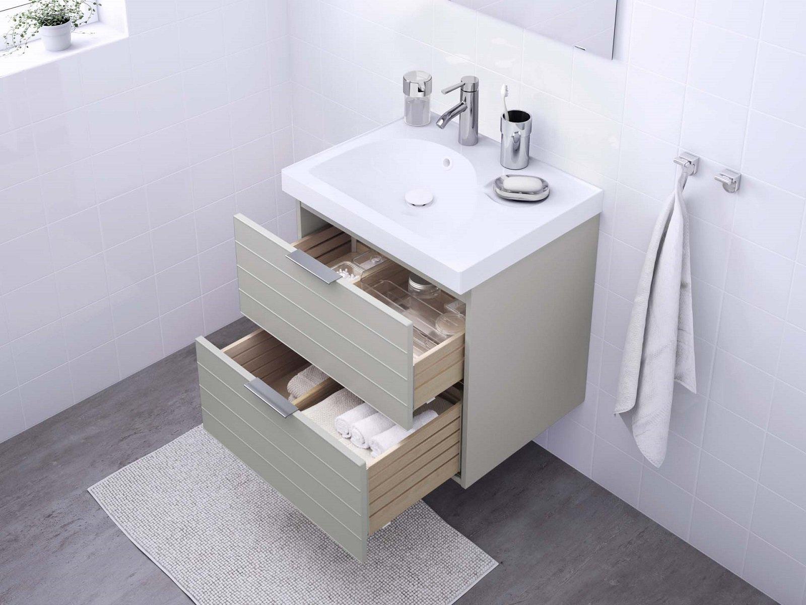 I mobili lavabo sospesi sono i protagonisti dell arredo bagno - Ikea bagno piccolo ...