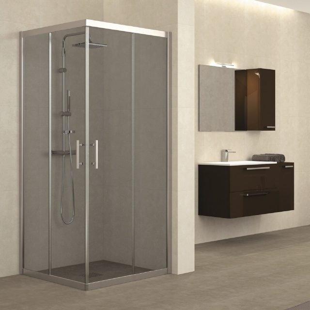 Il box doccia funzionale bello e sicuro per un totale - Box doccia tre lati leroy merlin ...