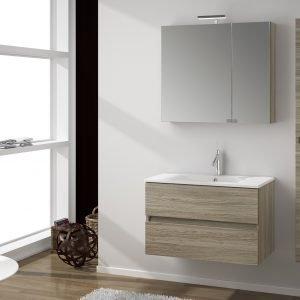 i mobili lavabo sospesi sono i protagonisti dell'arredo bagno.