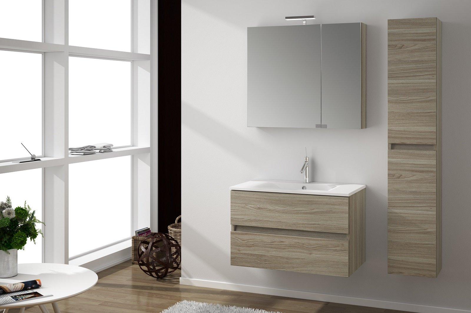 i mobili lavabo sospesi sono i protagonisti dell'arredo bagno. - Arredo Bagno Mercatone Uno