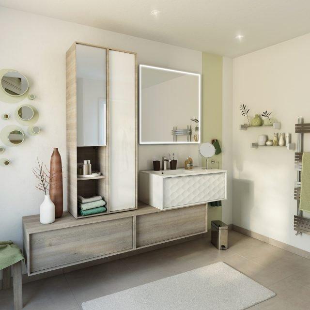 I mobili lavabo sospesi sono i protagonisti dell arredo bagno - Mobile lavabo leroy merlin ...