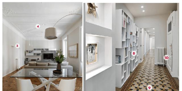 140 mq: una casa con pavimenti originari in parquet e marmette primo '900