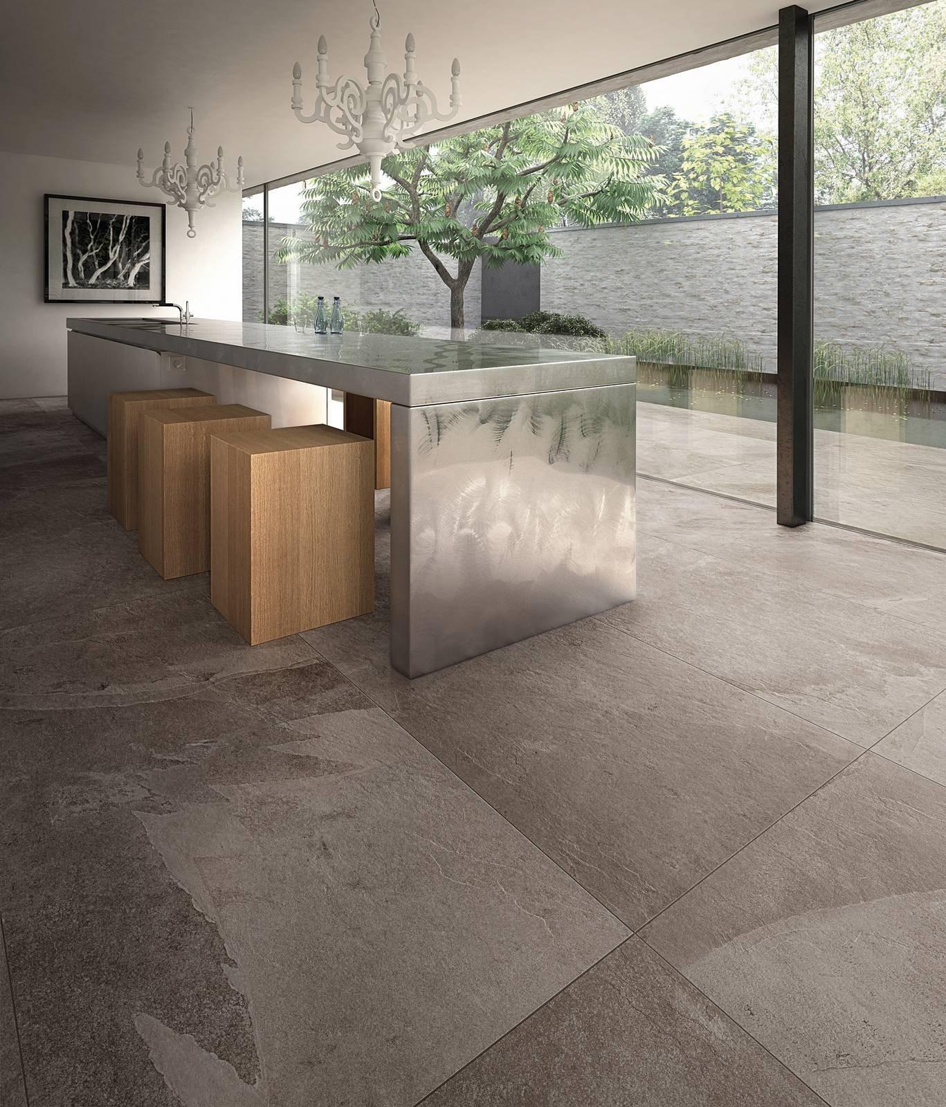 Pavimenti effetto pietra in gres porcellanato belli e superesistenti cose di casa - Piastrelle cucina pietra ...