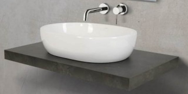 Lavabo d'appoggio: varianti di forma e colore