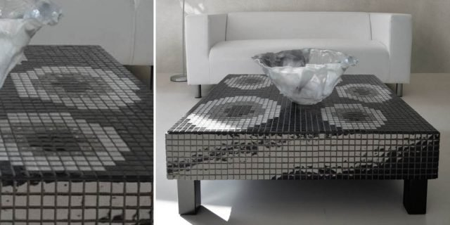 Effetto nuvolato e mosaico per rinnovare il soggiorno