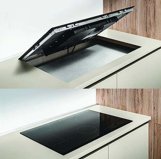 Il pannello isolante posto sotto il piano a induzione evita il surriscaldamento e il conseguente danneggiamento del top. ● Di Veneta Cucine