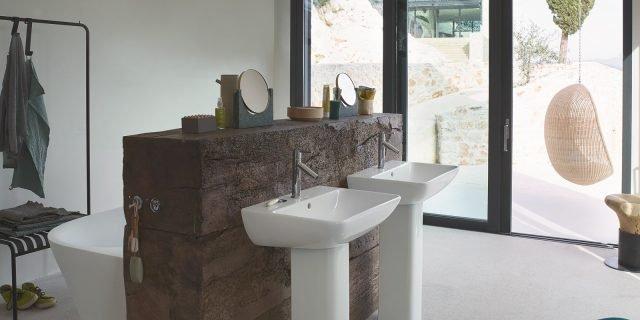 Lavabo a colonna: non solo per il bagno classico