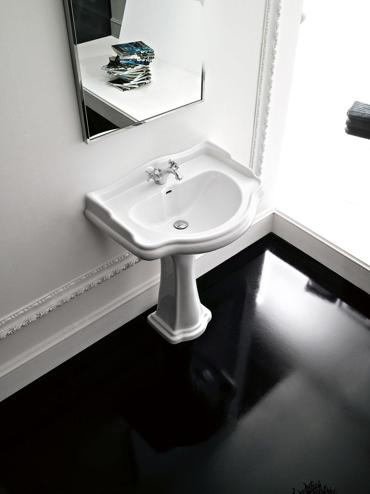 Lavabo con colonna in stile classico e moderno e modelli - Lavabo con colonna ...