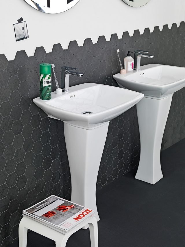 Lavabo con colonna in stile classico e moderno e modelli - Colonna bagno bianca ...