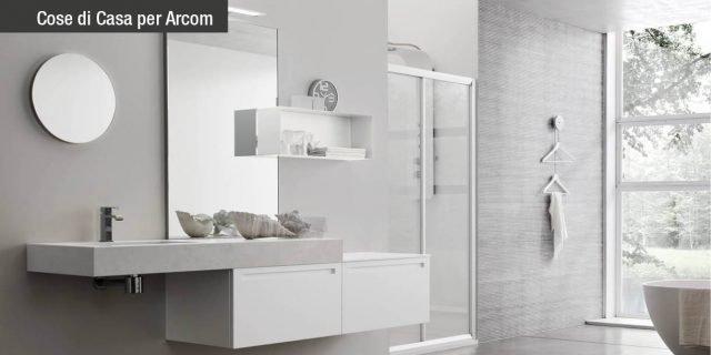 Il mobile bagno secondo Arcom: Rush, il fascino dell'Olmo e la purezza delle forme