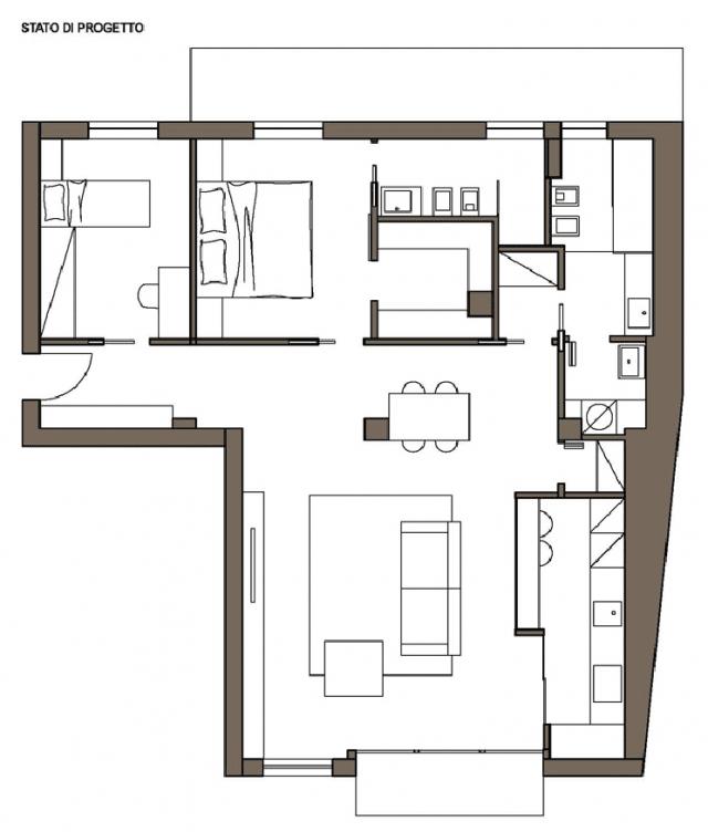 appartamento stile industriale