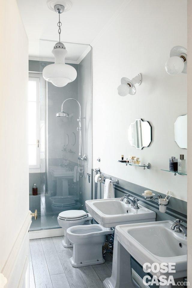 85 mq una casa in stile classico contemporaneo cose di casa for Bagno 7 mq