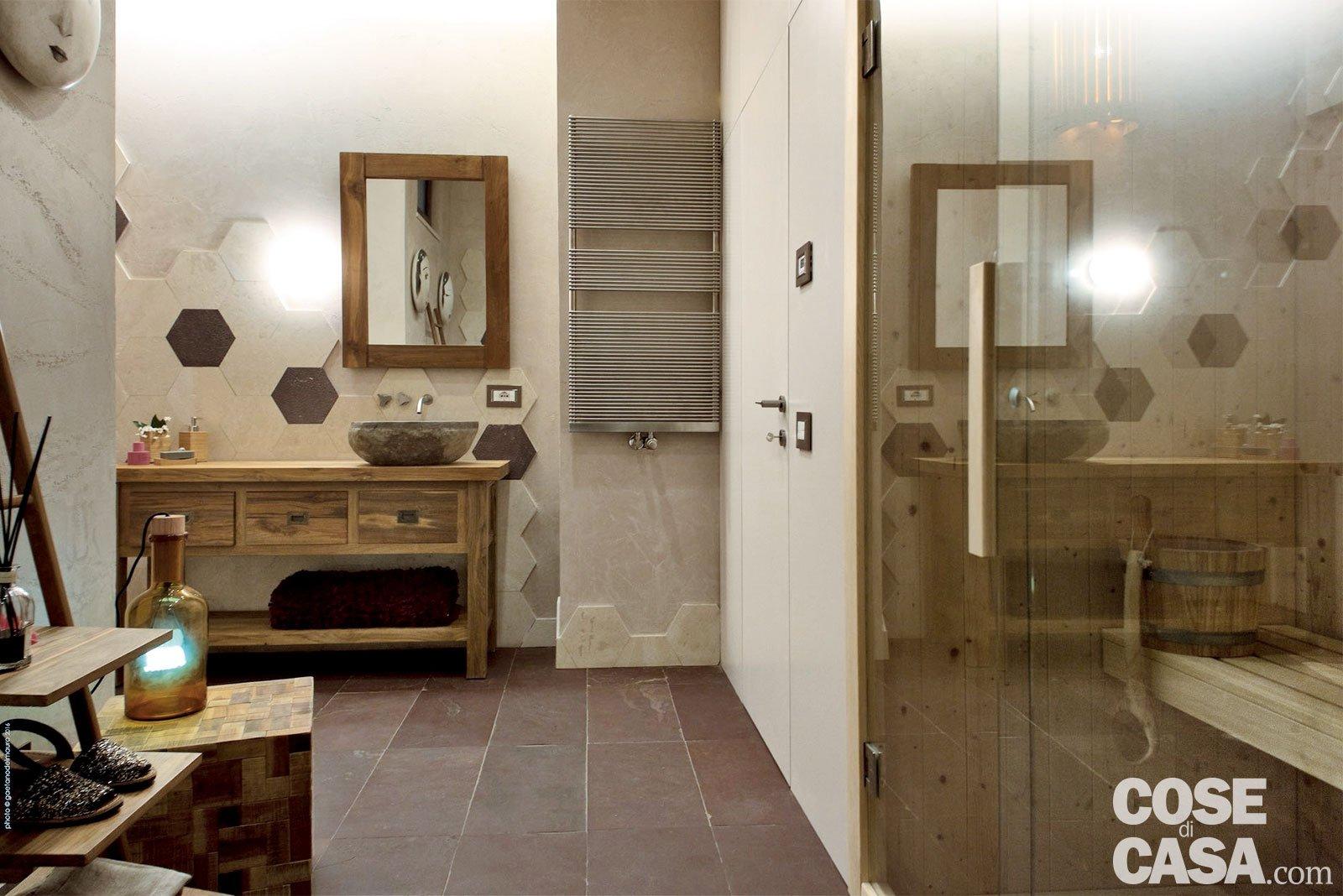 Rustico moderno una casa con un mobile che divide cucina - Scaldare il bagno elettricamente ...
