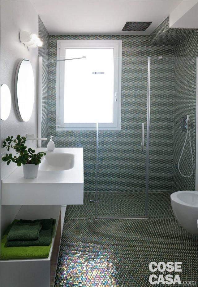 Cambio di immagine per la casa di 120 mq all 39 ultimo piano cose di casa - Piastrelle bagno altezza 120 ...