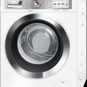 Gestibile anche da remoto, la lavatrice i-DOS e Home Connect mod. WAYH8849ITdi Bosch ha motore EcoSilence Drive estremamente silenzioso che emette solo 47 decibel di livello in fase di lavaggio e 71 decibel in fase di centrifuga. Ha capacità di 9 kg e ha sensori per dosare automaticamente il detersivo. Misura L 60 x P 59 x H 85 cm. Prezzo 1.299 euro. www.bosch.it
