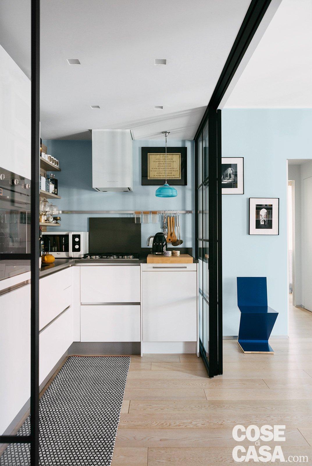 Come Dividere Sala E Cucina 95 mq con una soluzione originale per separare la cucina e