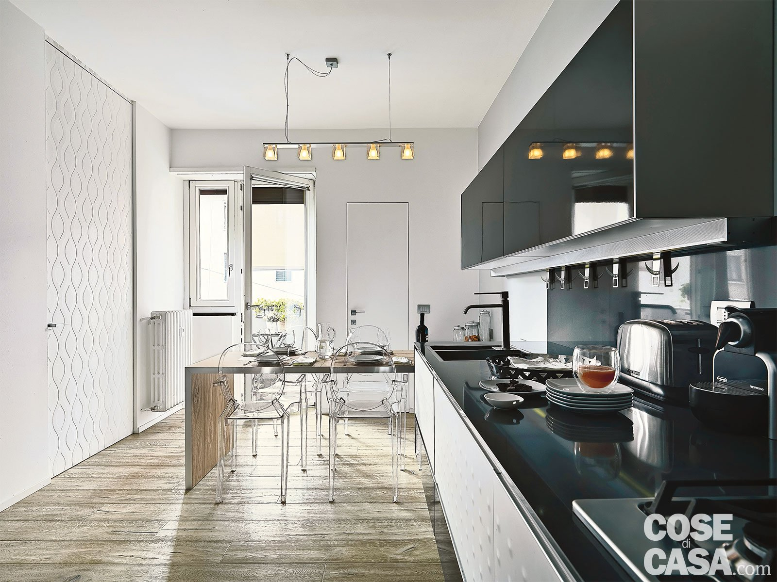 Idea Casa Li Punti 150 mq tutti da copiare: dalla divisione soggiorno-cucina
