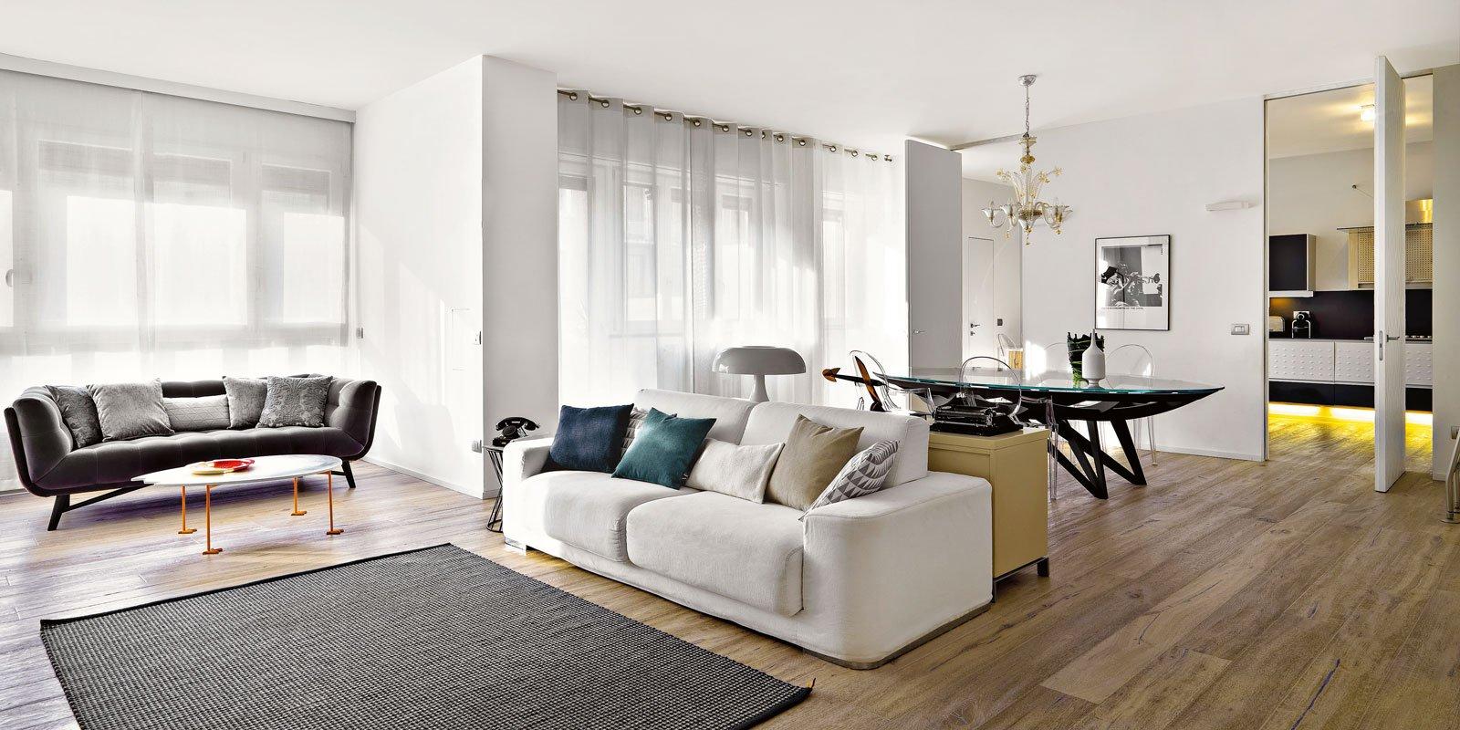 150 mq tutti da copiare dalla divisione soggiorno cucina for Progetti case moderne interni