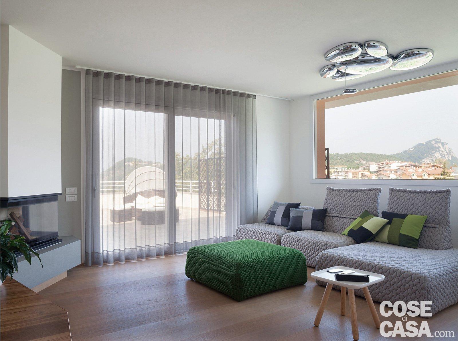 Cambio di immagine per la casa di 120 mq all 39 ultimo piano for Piani di casa open space