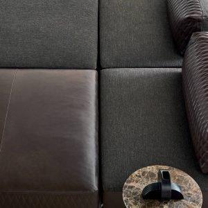 Divano Sanders Air, design Spessotto&Agnoletto, di Ditre Italia, con seduta disponibile in pelle o in tessuto