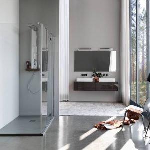 La cabina doccia Zenith di Samo