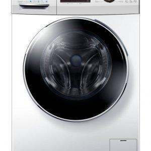 Disponibile in tre differenti modelli (con capacità da 7, 8 e 10 kg), la lavatrice della serie Hatrium di Haier ha un motore senza cinghia o spazzole che garantisce bassissime vibrazioni, elevata silenziosità (solo 67 dB) e la classe A+++ -50%. È possibile scegliere tra 16 programmi a disposizione. Prezzo da 449 euro. Misura L 59,5 x P 60 x H85 cm. www.haier.com/it