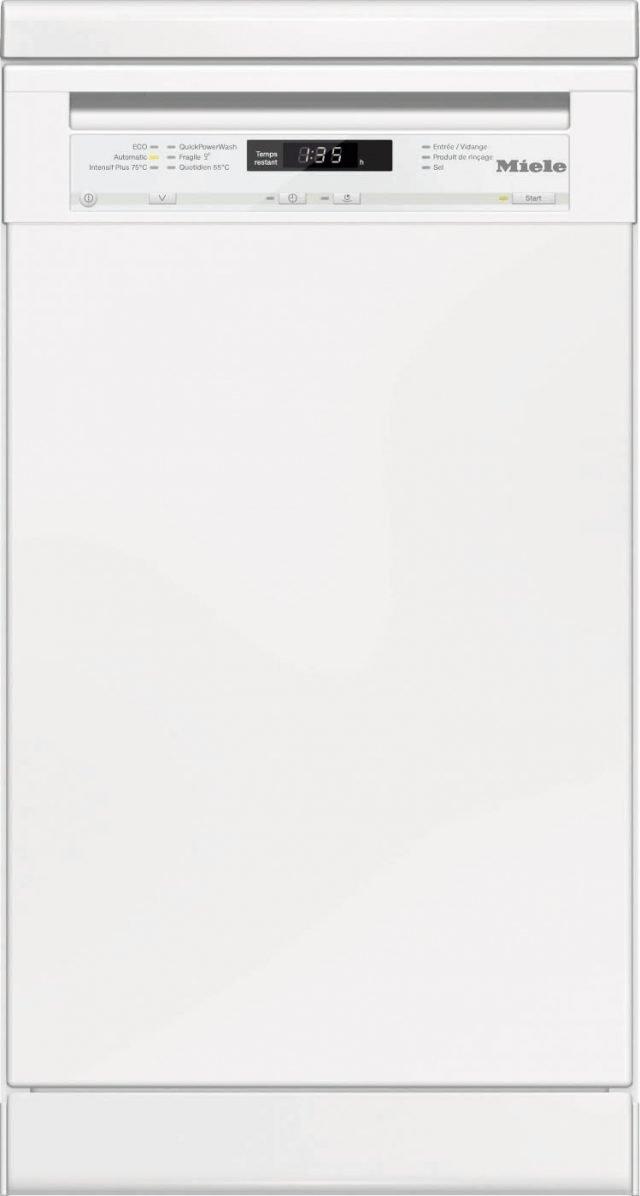 Misura L 45 x P 60 x H 88 cm. Completa di 6 programmi di lavaggio, per 9 coperti e con cassetto per le posate, la lavastoviglie  G 4722 SC di Miele permette di posticipare la partenza fino a 24 ore. Ha funzione specifica per preservare i vetri e i cristalli. È in classe A++. Prezzo in via di definizione. www.miele.it