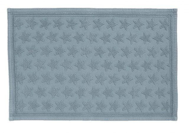 """Con stelle """"ton sur ton"""" sono in rilievo, il tappetino per il bagno Cornice stelle di Zara Home è in 100% cotone. Misura 50x70 cm. Prezzo 19,99 euro. www.zarahome.com"""