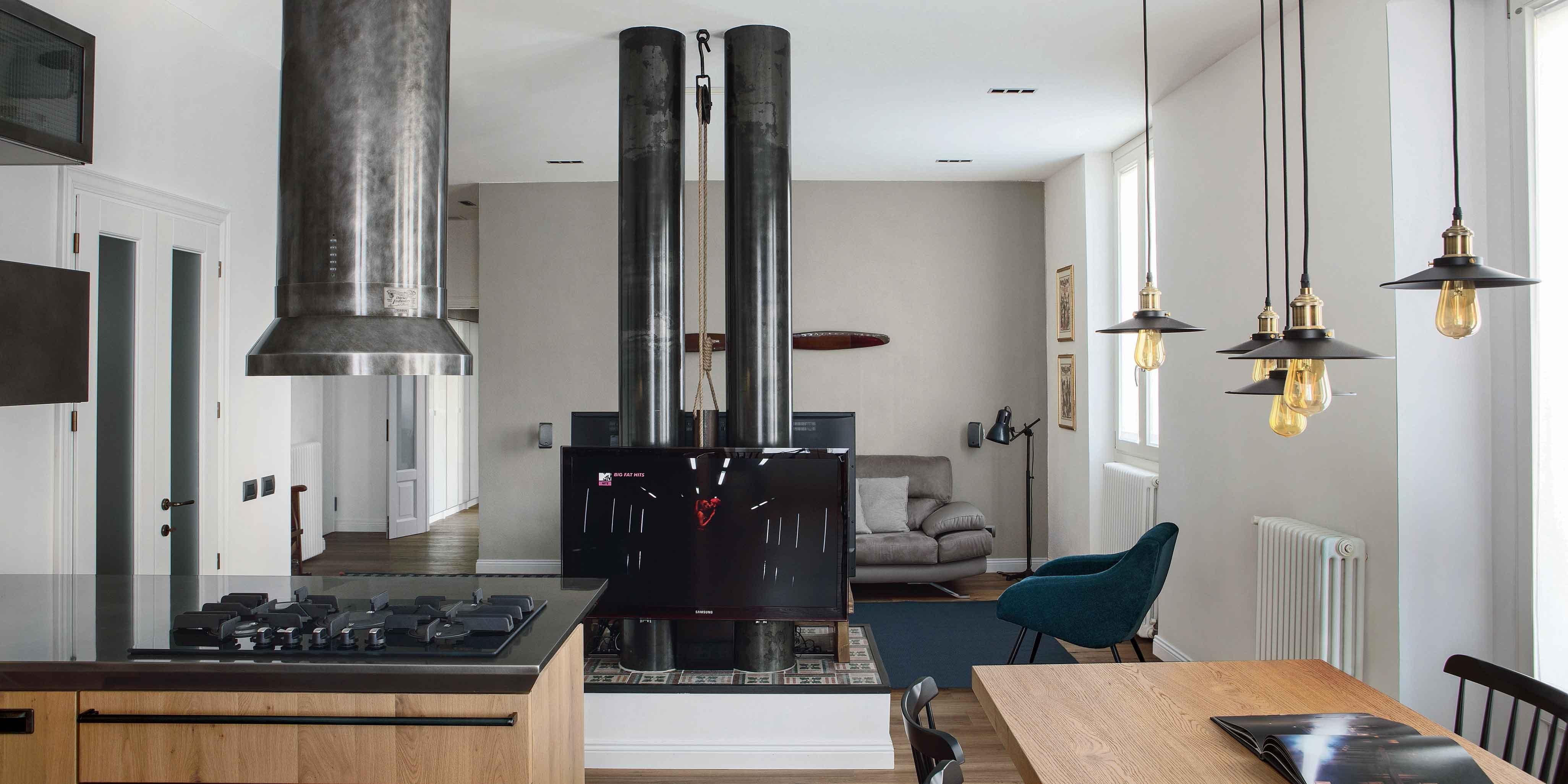 Una casa industrial style 90 mq di tendenza cose di casa for Piccoli piani di casa con un sacco di finestre