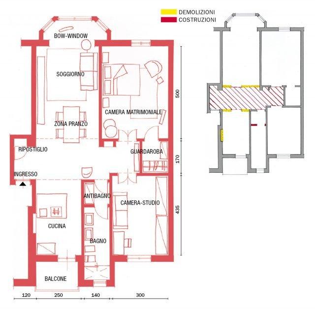85 mq una casa in stile classico contemporaneo cose di casa - Progetto casa 85 mq ...