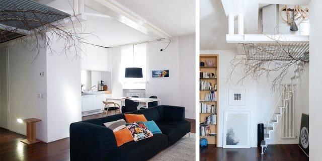 Una casa con soluzioni da copiare: factory urbano con mini soppalco mansardato
