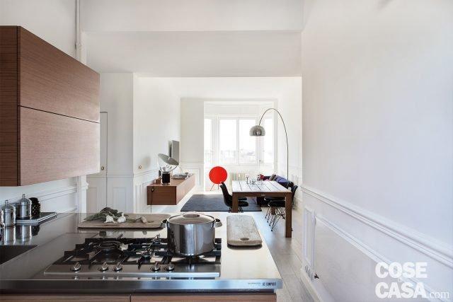 85 mq una casa in stile classico contemporaneo cose di casa for Soggiorno classico contemporaneo