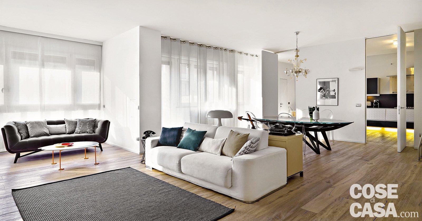 150 mq tutti da copiare dalla divisione soggiorno cucina for Case di architetti moderni