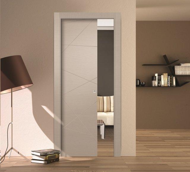 La porta scorrevole ideale dove necessario risparmiare spazio - Colori per muro interno ...