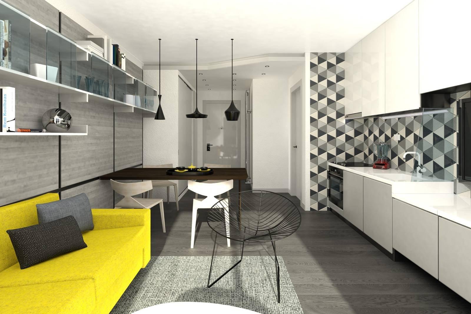 Come Disporre I Mobili Della Sala : Soggiorno con cucina come disporre i mobili e dove mettere la