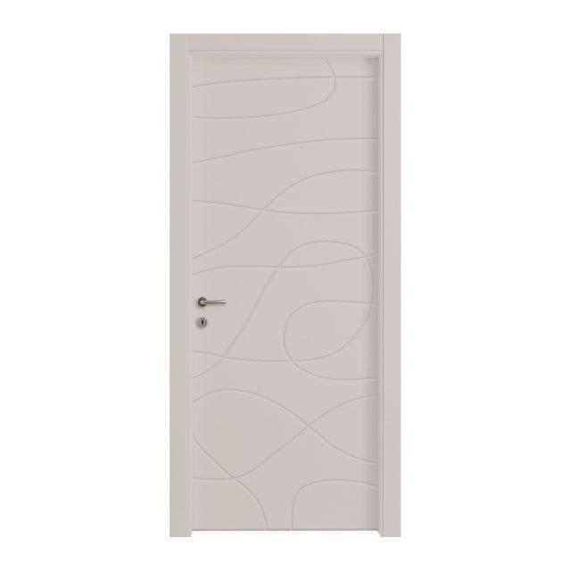 La porta a battente Wind Silk di Leroy Merlin in Mdf ha una piacevole decorazione che la rende adatta a qualsiasi ambiente moderno. Con apertura a destra, misura L 60 x H 210 cm. Prezzo 499,90 euro. www.leroymerlin.it